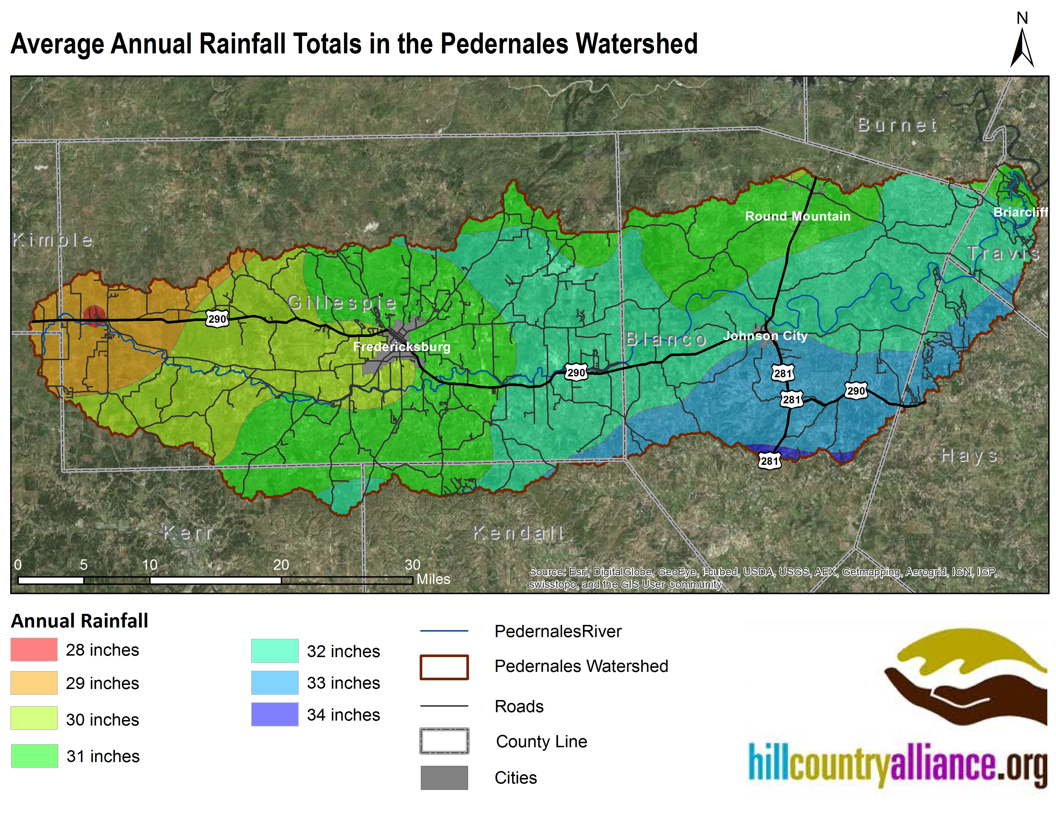 Map Of Texas Hill Country Cities.Pedernales River Basin Welcome To Hill Country Alliance